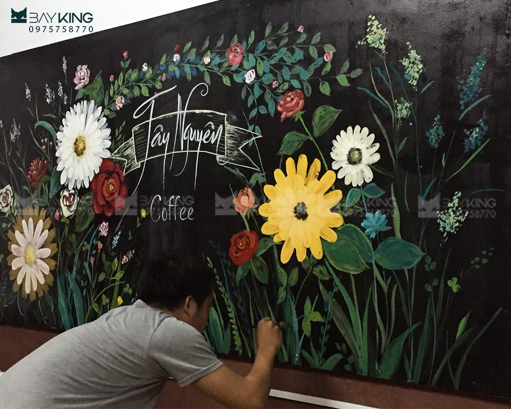 vẽ tranh tường cafe đẹp