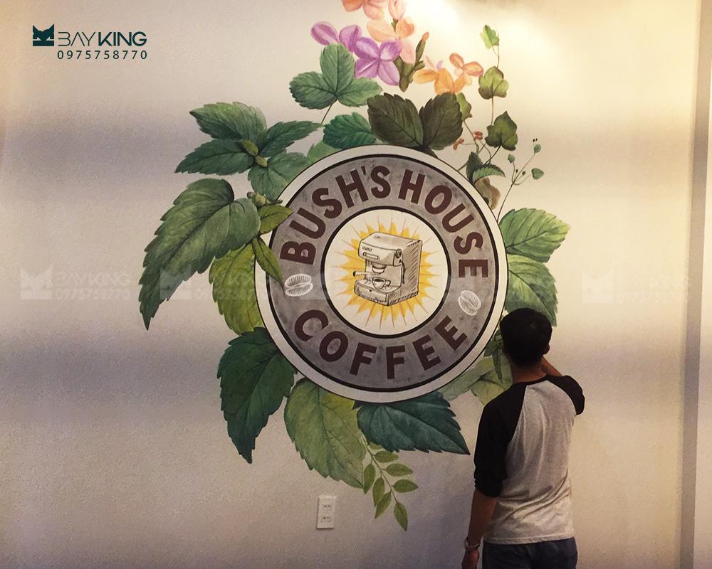 vẽ tranh tường cho quán cafe