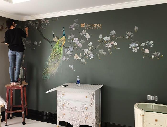 đơn vị vẽ tranh tường phòng ngủ