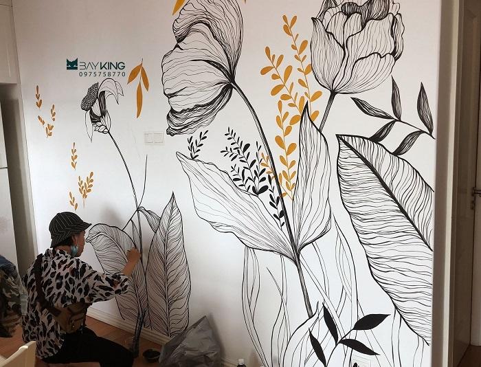 mẫu vẽ tranh tường quán trà sữa