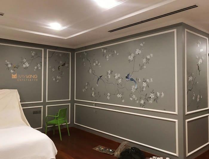dịch vụ vẽ tranh tường phòng ngủ giá rẻ