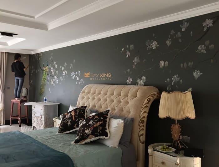 dịch vụ vẽ tranh tường phòng ngủ đẹp