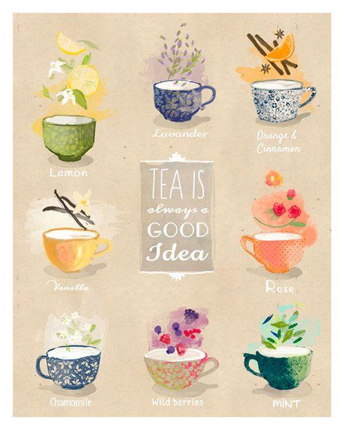 tranh tường trà sữa