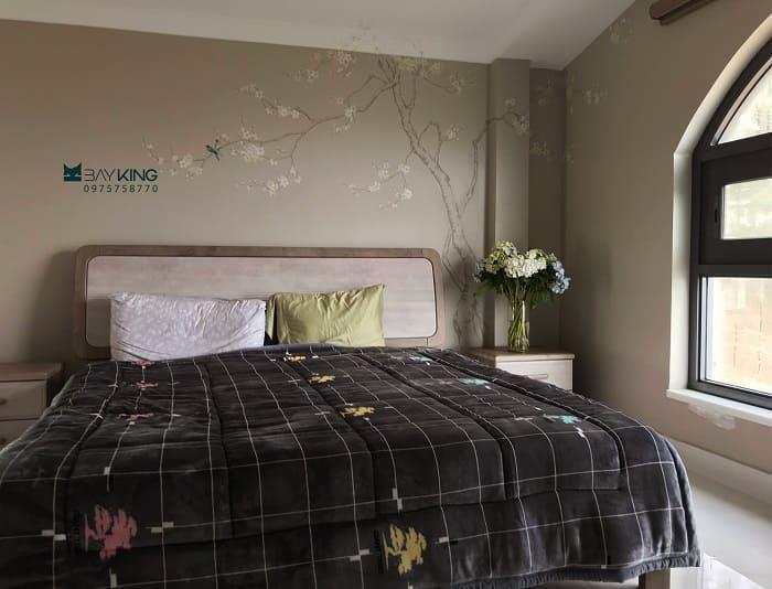 tranh ve tường phòng ngủ