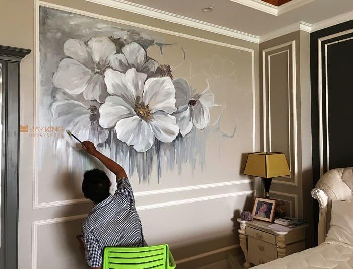 vẽ tranh phòng ngủ