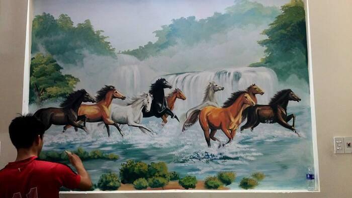 Tranh 3d những chú ngựa đẹp