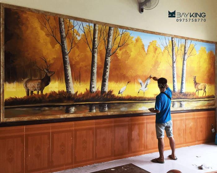 Tranh 3d quan cảnh rừng thiên nhiên