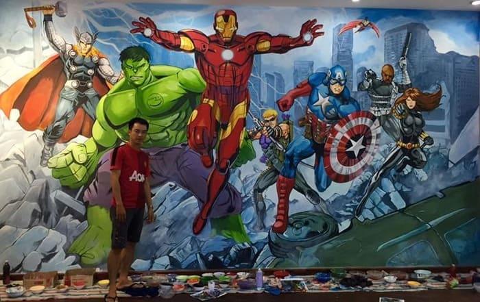 Tranh 3d các siêu anh hùng