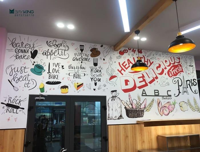 dịch vụ vẽ tranh tường cho nhà hàng