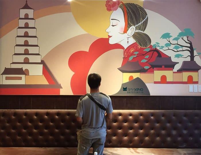 tranh tường nhà hàng