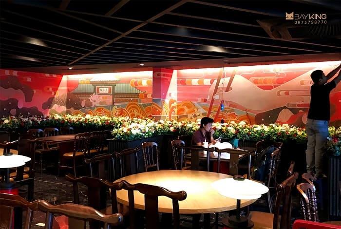 tranh vẽ tường cho nhà hàng