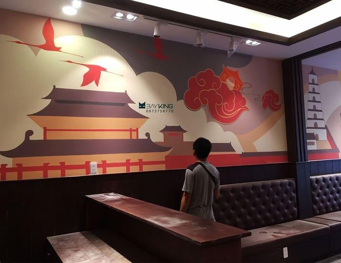 tranh vẽ tường nhà hàng