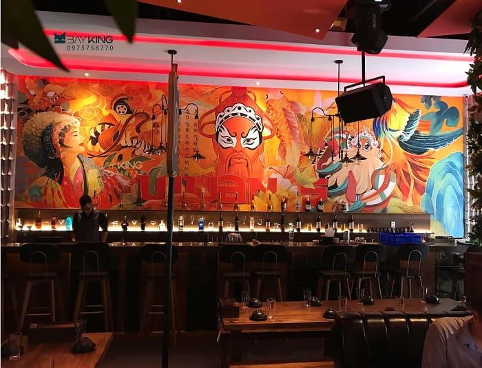 dịch vụ vẽ tranh tường nhà hàng tại tphcm