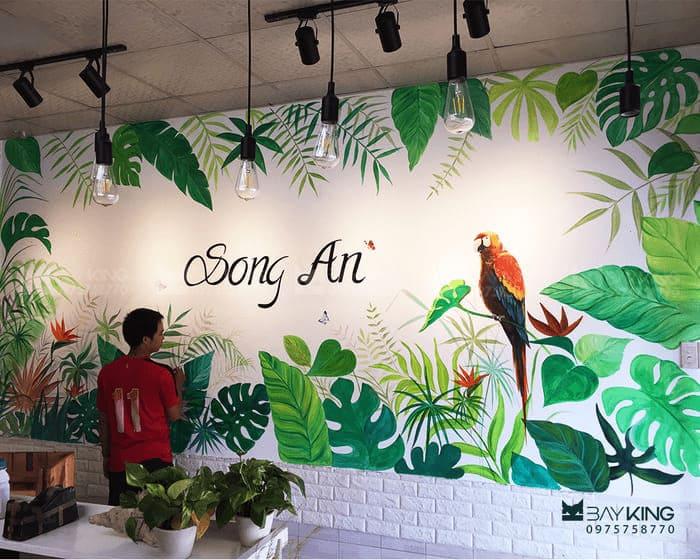 Vẽ tranh tường cafe