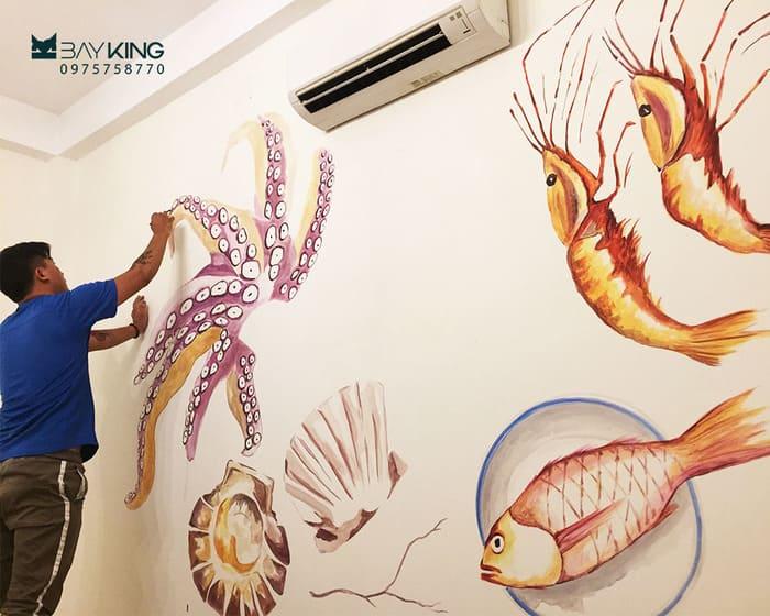 Vẽ tranh tường cho nhà hàng