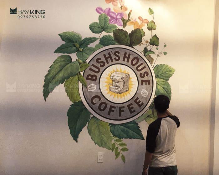 Vẽ tranh tường quán cafe tạo nên sự khác biệt