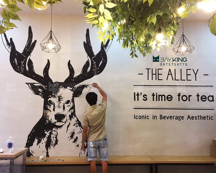 vẽ tranh tường quán trà sữa cực đẹp nhất